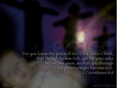Illustration of the Bible Verse 2 Corinthians 8:9