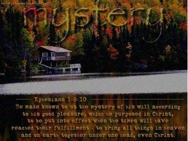 PowerPoint Background: Ephesians 1:9-10