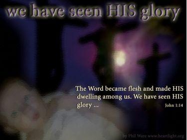 Illustration of the Bible Verse John 1:14