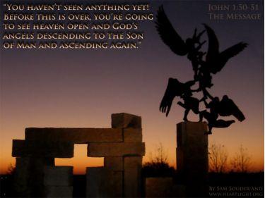 Illustration of the Bible Verse John 1:50-51