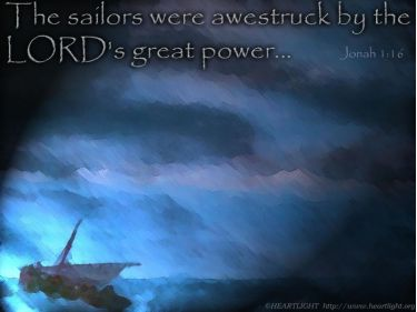 PowerPoint Background: Jonah 1:16