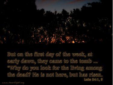 Illustration of the Bible Verse Luke 24:1-5