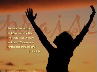 Illustration of the Bible Verse Luke 5:26