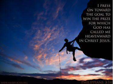 Illustration of the Bible Verse Philippians 3:14