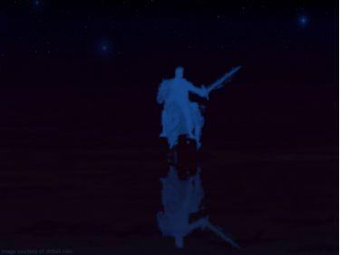 PowerPoint Background: Rider on the White Horse - Dark