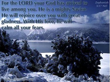 Illustration of the Bible Verse Zephaniahs 3:17