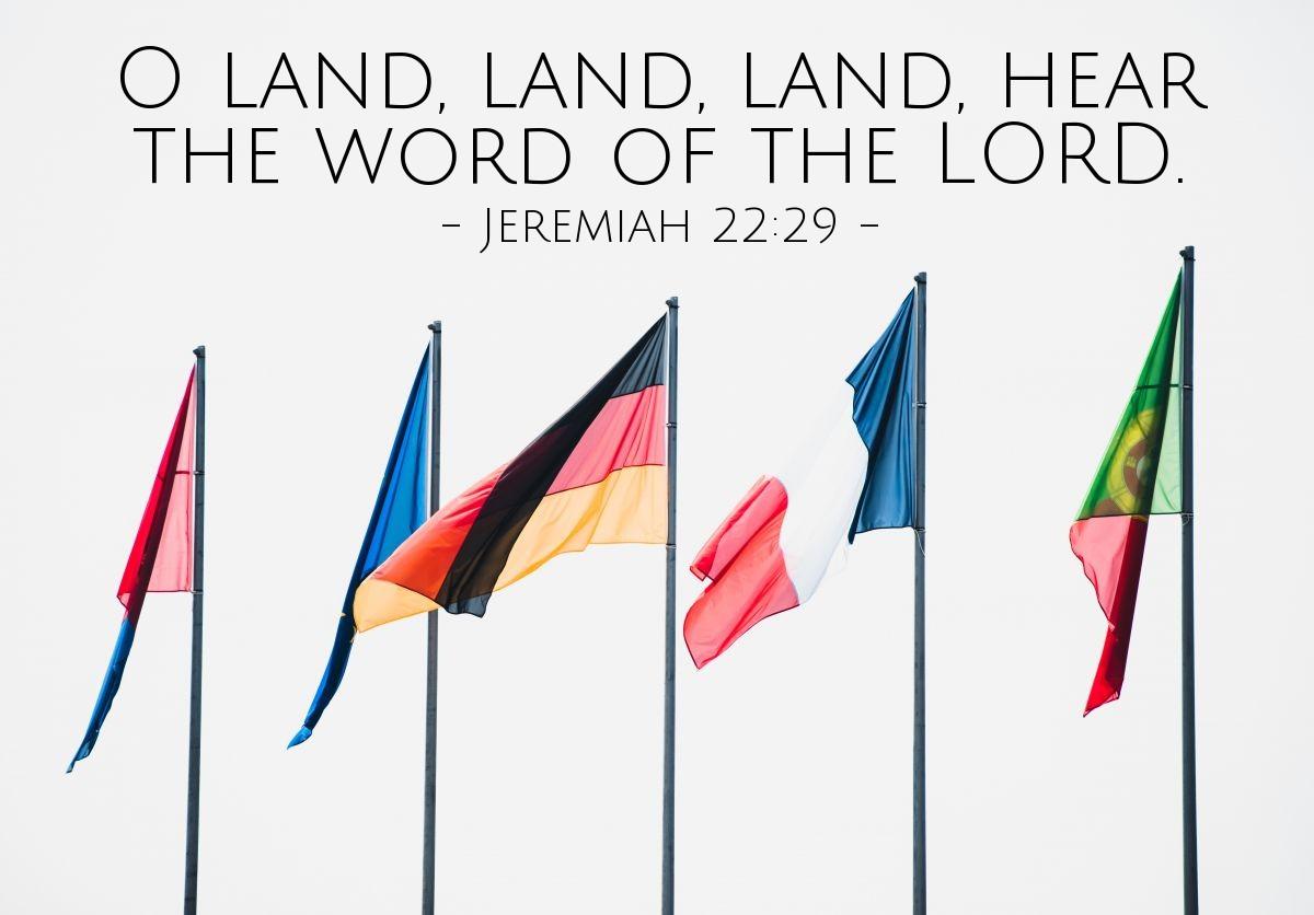 Inspirational illustration of Jeremiah 22:29