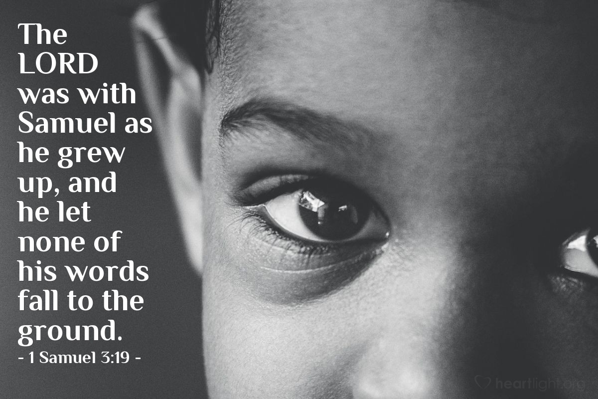 Inspirational illustration of 1 Samuel 3:19