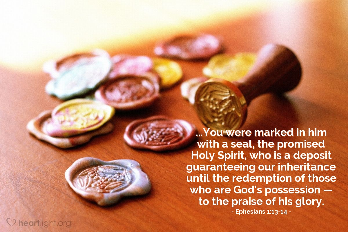 Inspirational illustration of Ephesians 1:13-14