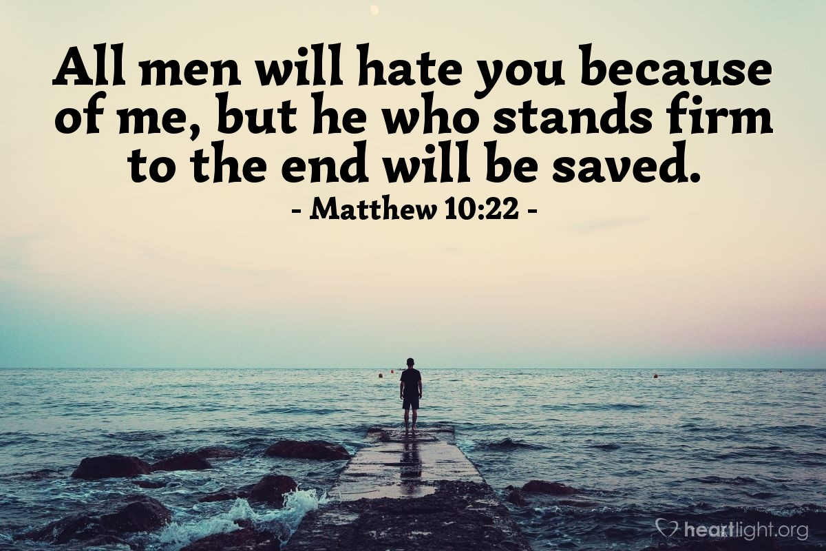 Inspirational illustration of Matthew 10:22