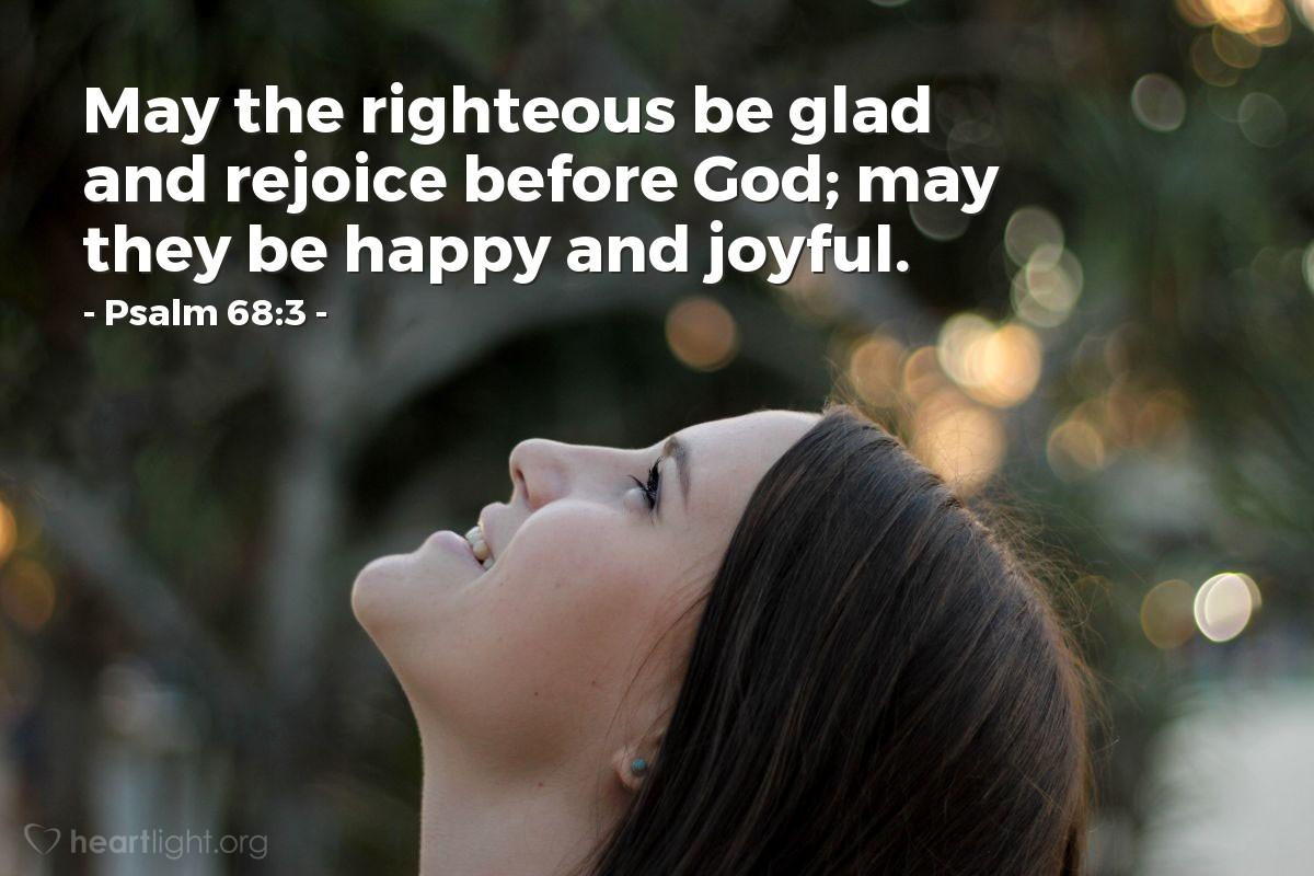 Inspirational illustration of Psalm 68:3