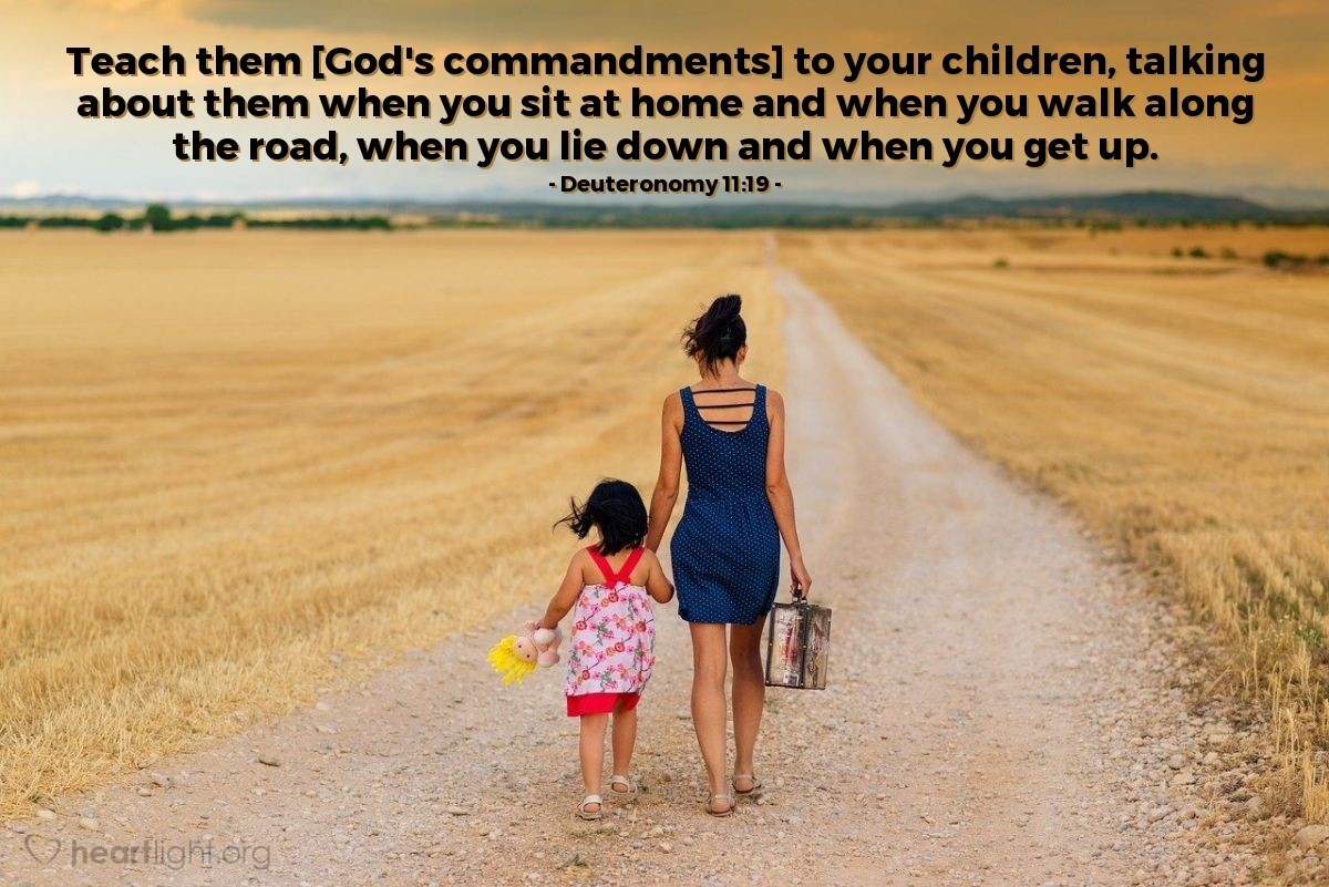 Inspirational illustration of Deuteronomy 11:19