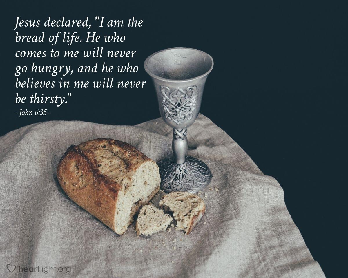 Inspirational illustration of John 6:35
