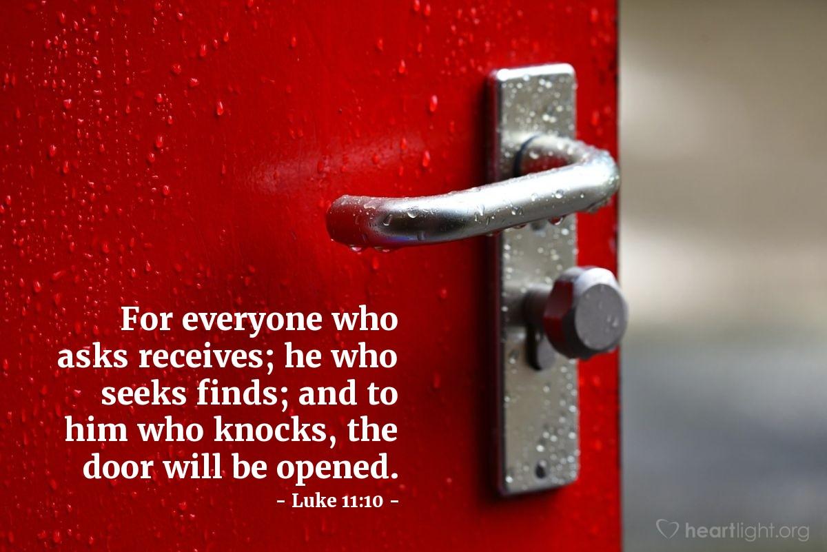 Inspirational illustration of Luke 11:10