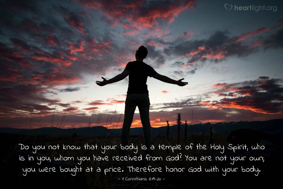 Inspirational illustration of 1 Corinthians 6:19-20