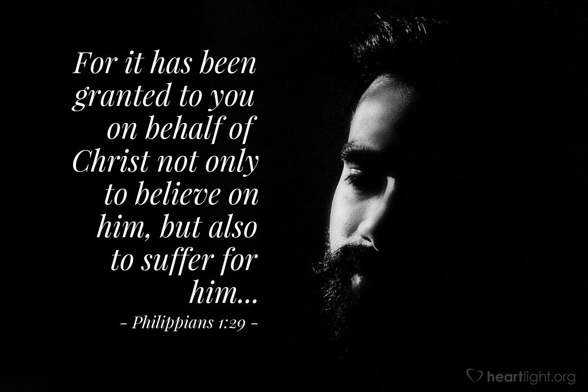 Inspirational illustration of Philippians 1:29