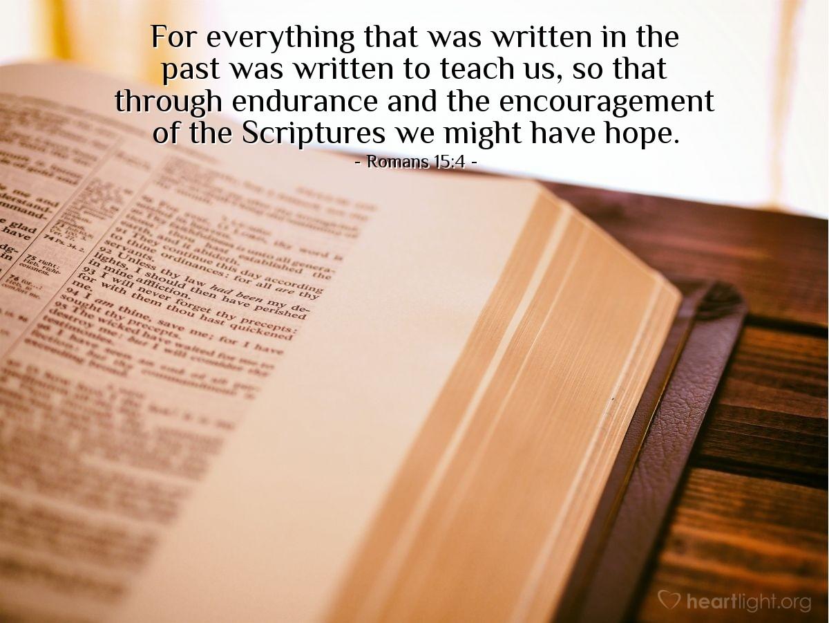 Inspirational illustration of Romans 15:4