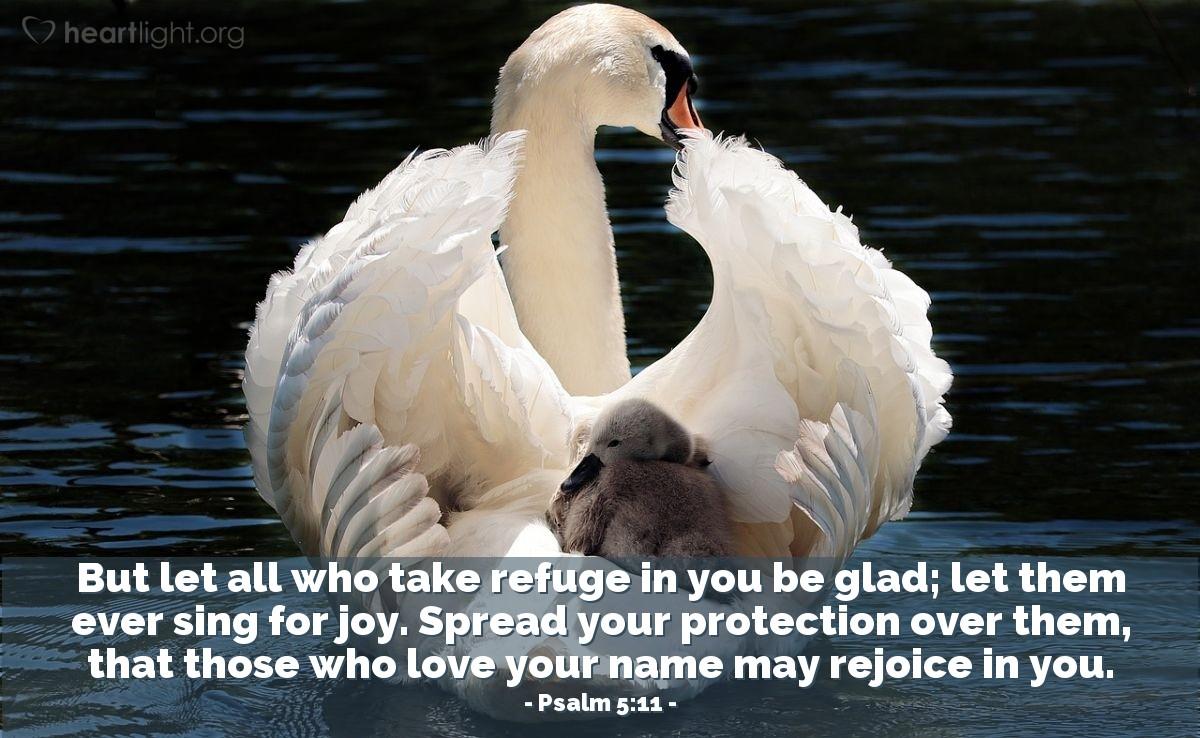 Inspirational illustration of Psalm 5:11