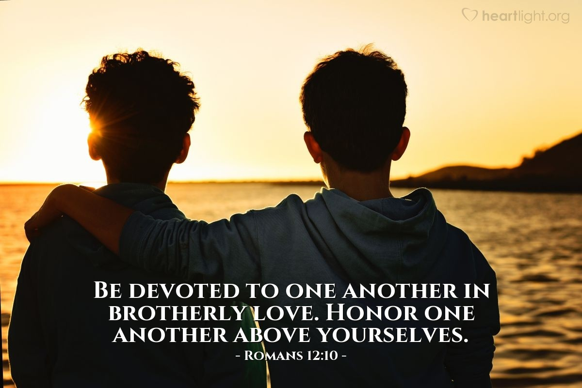 Inspirational illustration of Romans 12:10