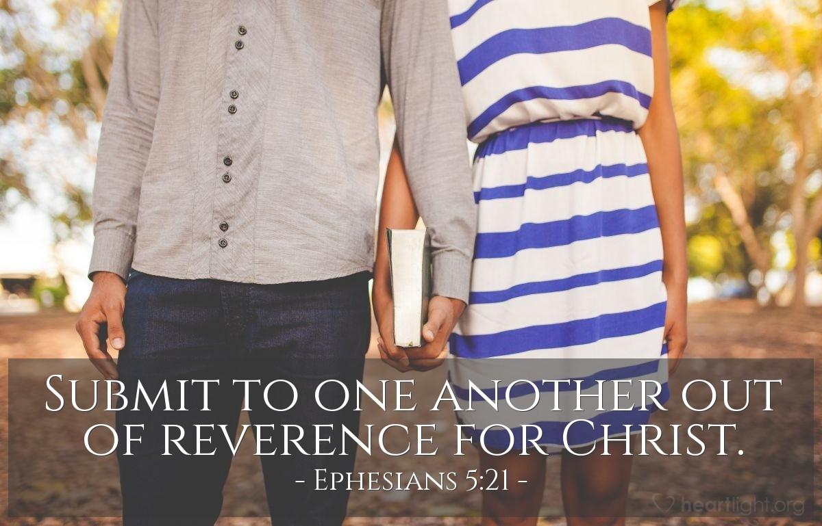 Inspirational illustration of Ephesians 5:21