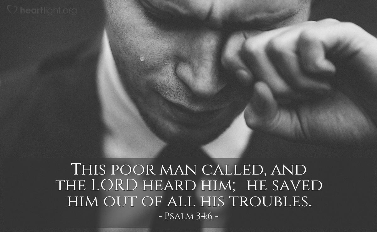 Inspirational illustration of Psalm 34:6