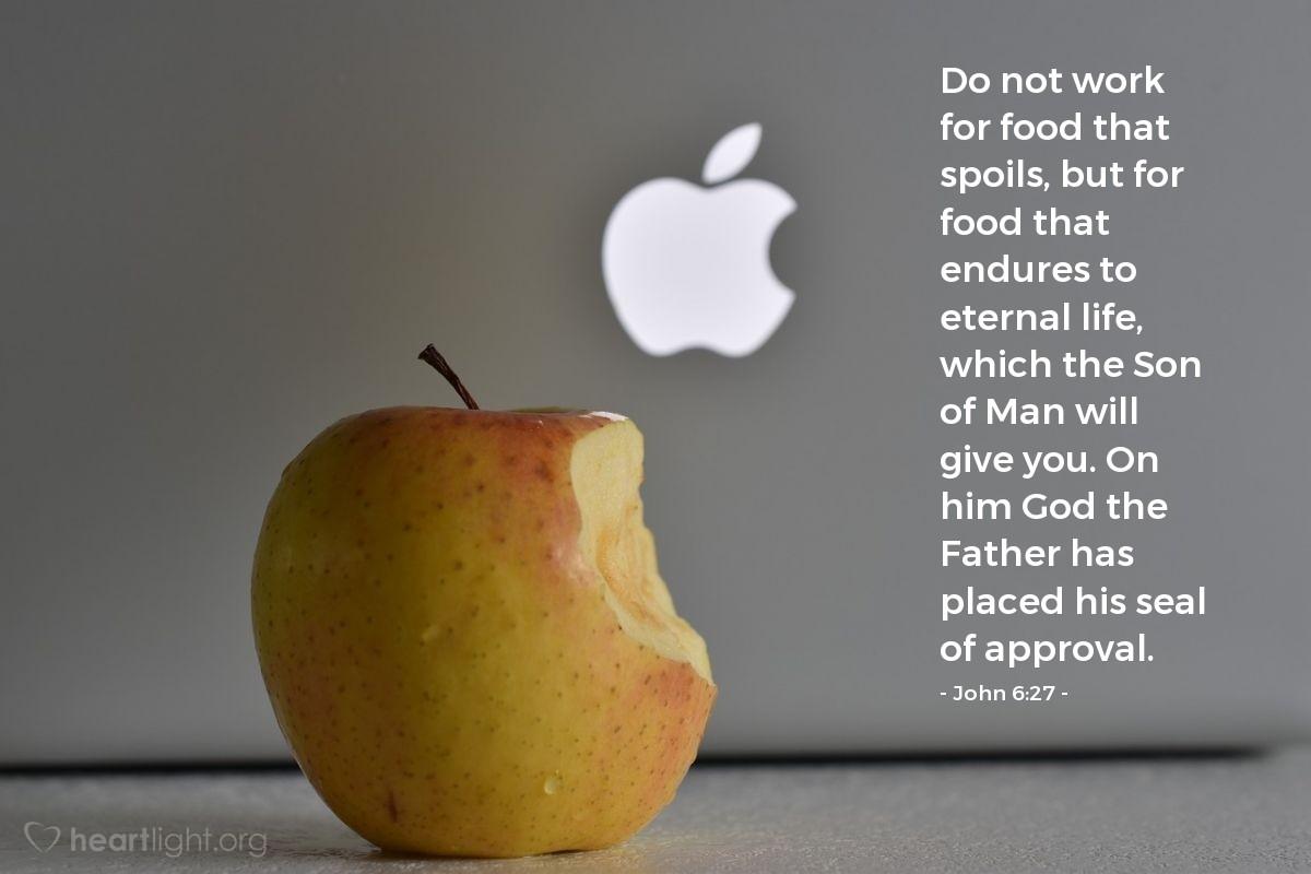Inspirational illustration of John 6:27
