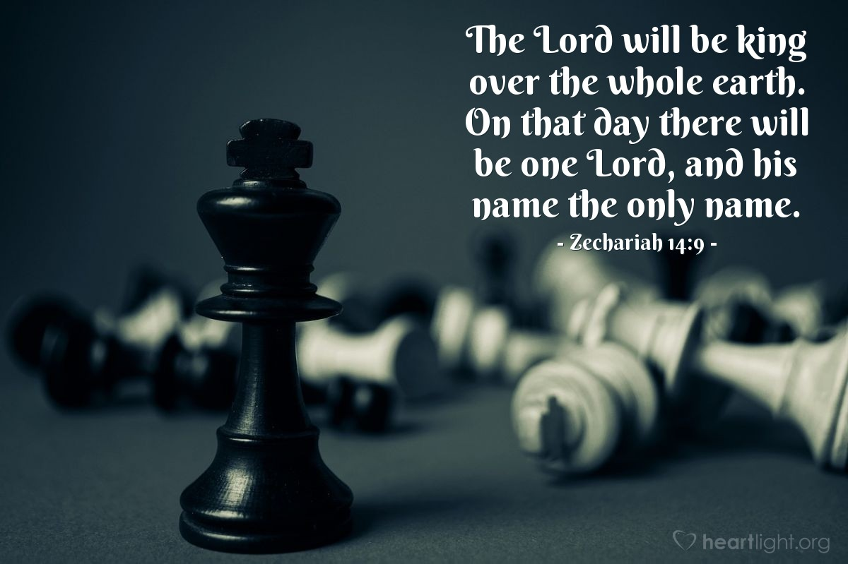 Inspirational illustration of Zechariah 14:9