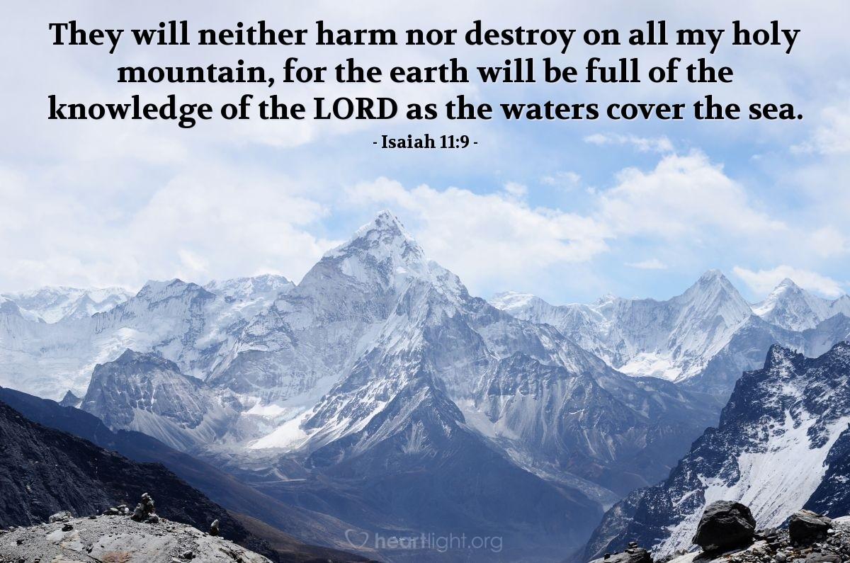 Inspirational illustration of Isaiah 11:9
