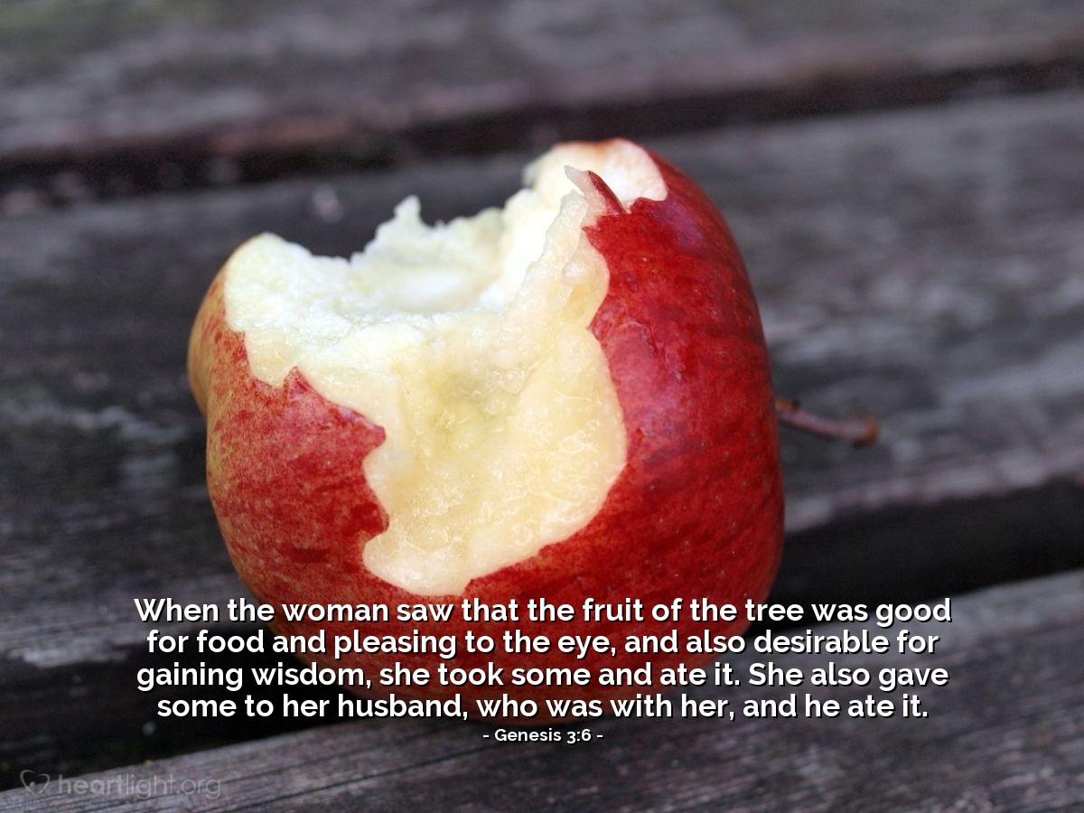 Inspirational illustration of Genesis 3:6