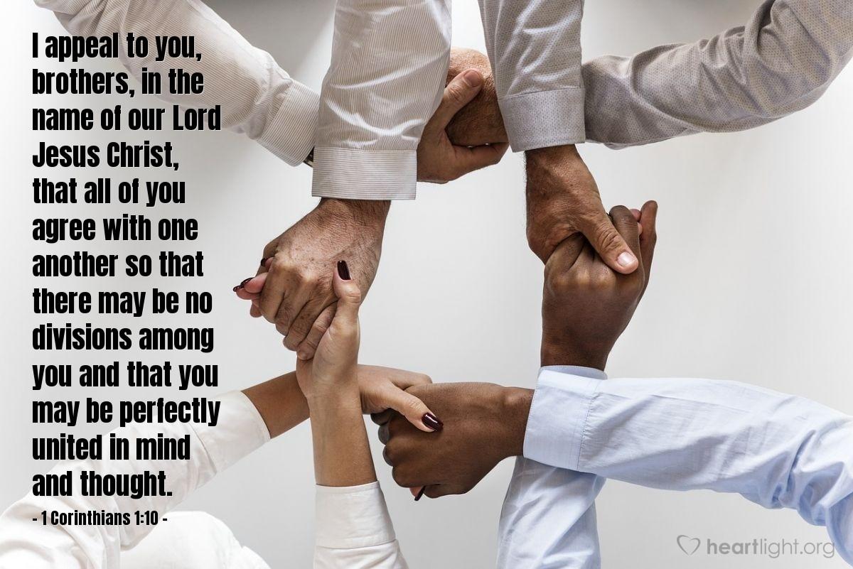 Inspirational illustration of 1 Corinthians 1:10