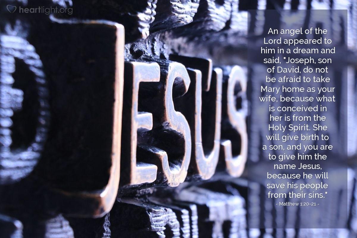 Inspirational illustration of Matthew 1:20-21