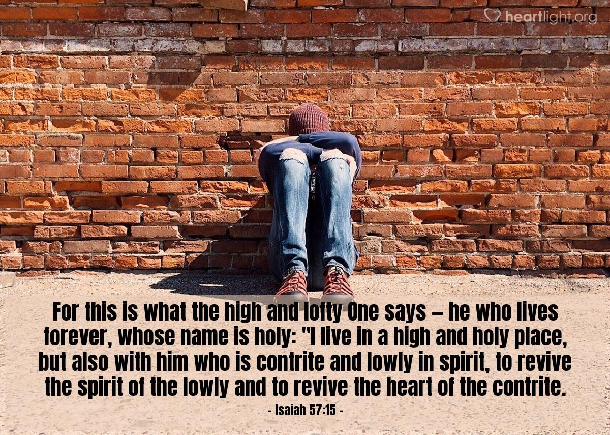Inspirational illustration of Isaiah 57:15