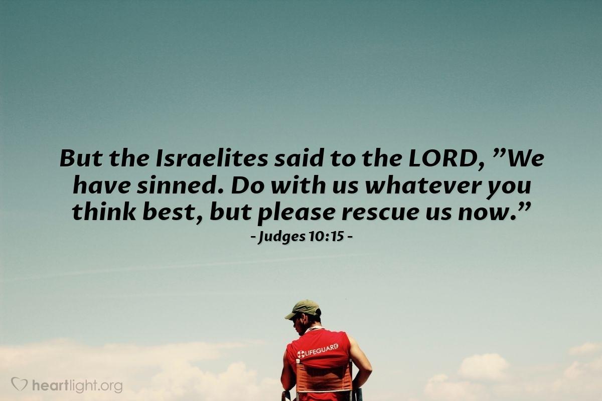 Inspirational illustration of Judges 10:15