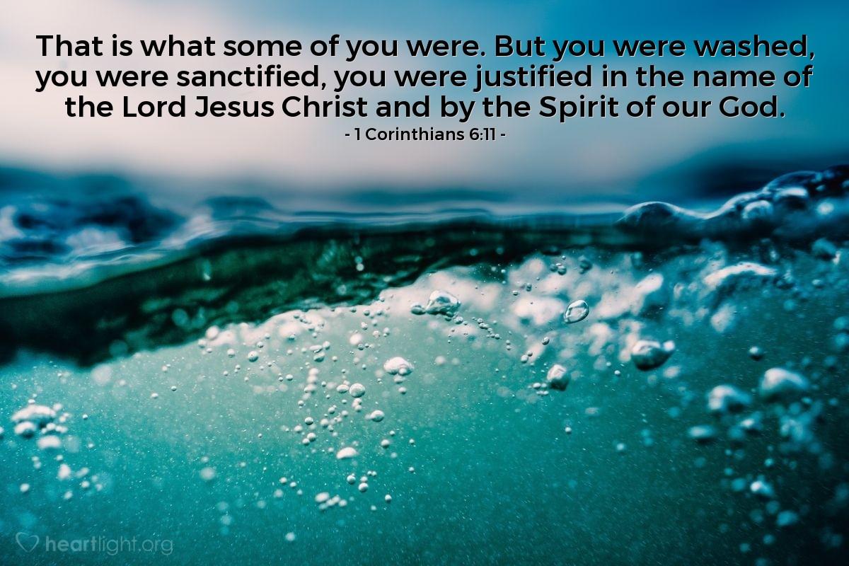 Inspirational illustration of 1 Corinthians 6:11