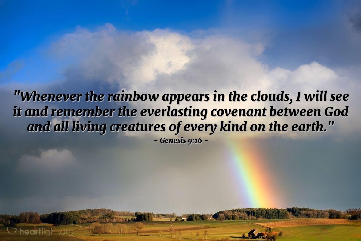 Inspirational illustration of Genesis 9:16