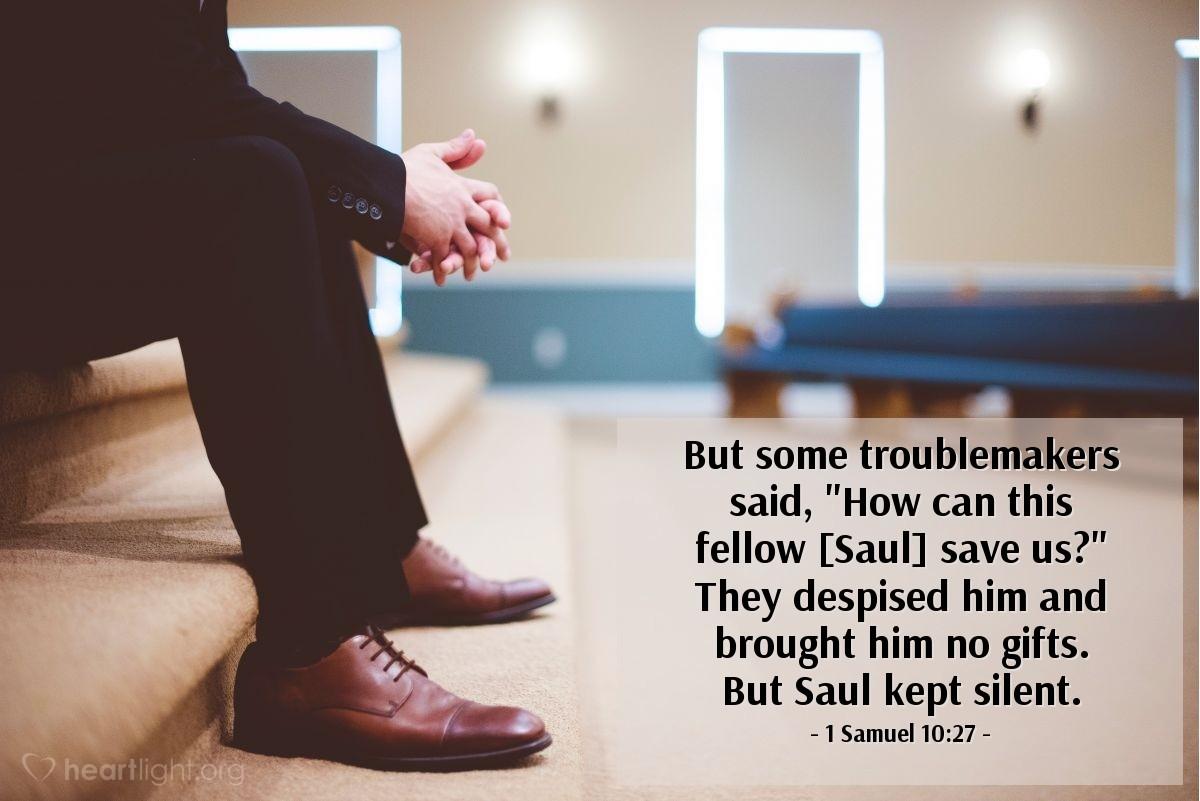 Inspirational illustration of 1 Samuel 10:27