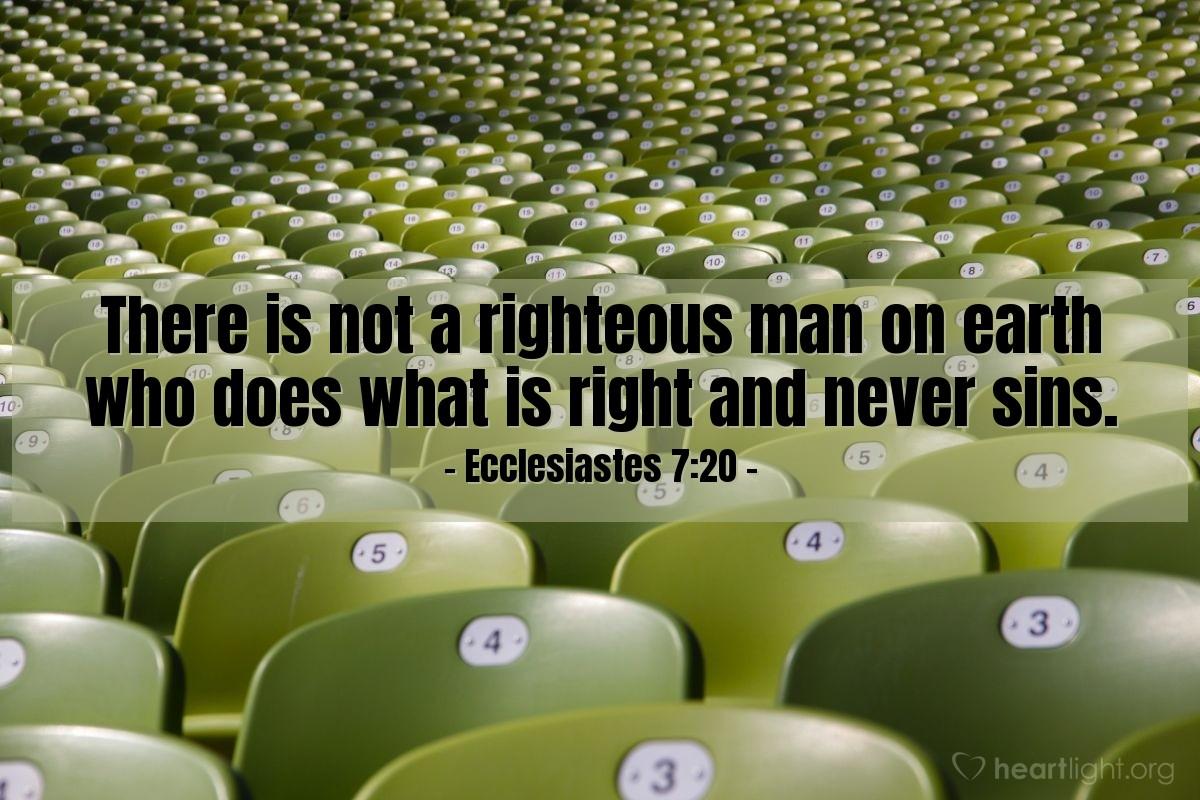Inspirational illustration of Ecclesiastes 7:20