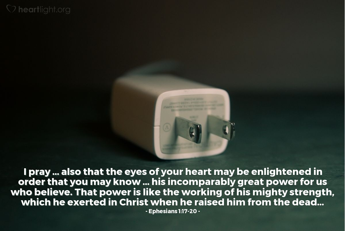 Inspirational illustration of Ephesians 1:17-20