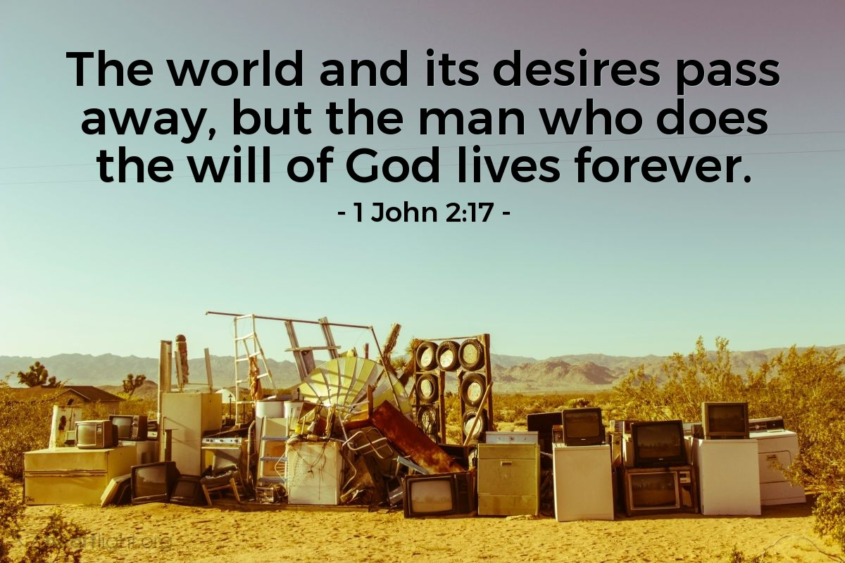 Inspirational illustration of 1 John 2:17