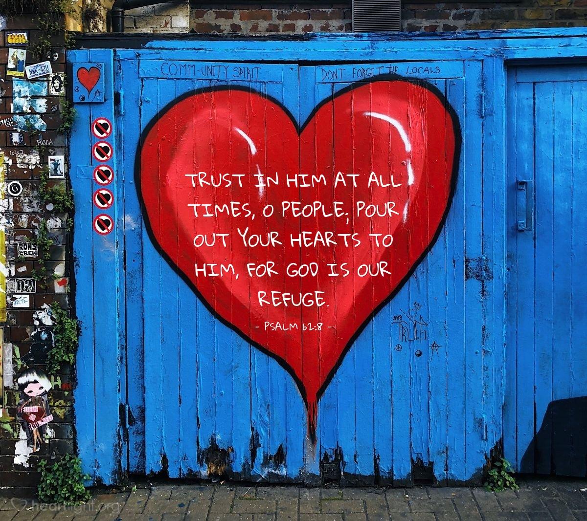 Inspirational illustration of Psalm 62:8