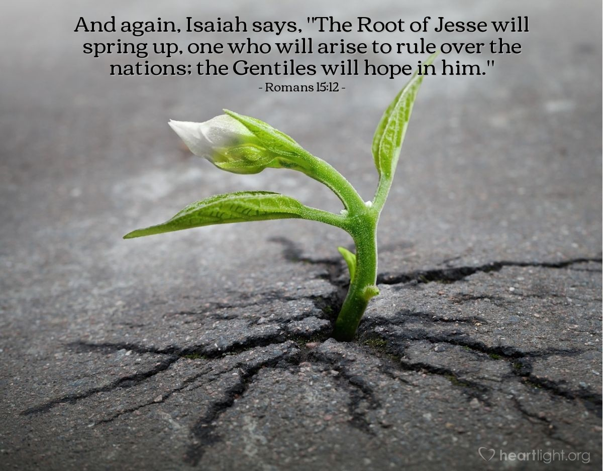 Inspirational illustration of Romans 15:12