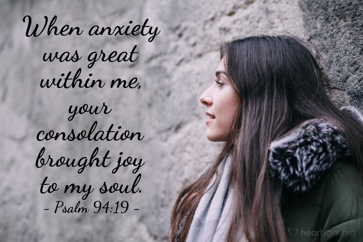 Inspirational illustration of Psalm 94:19