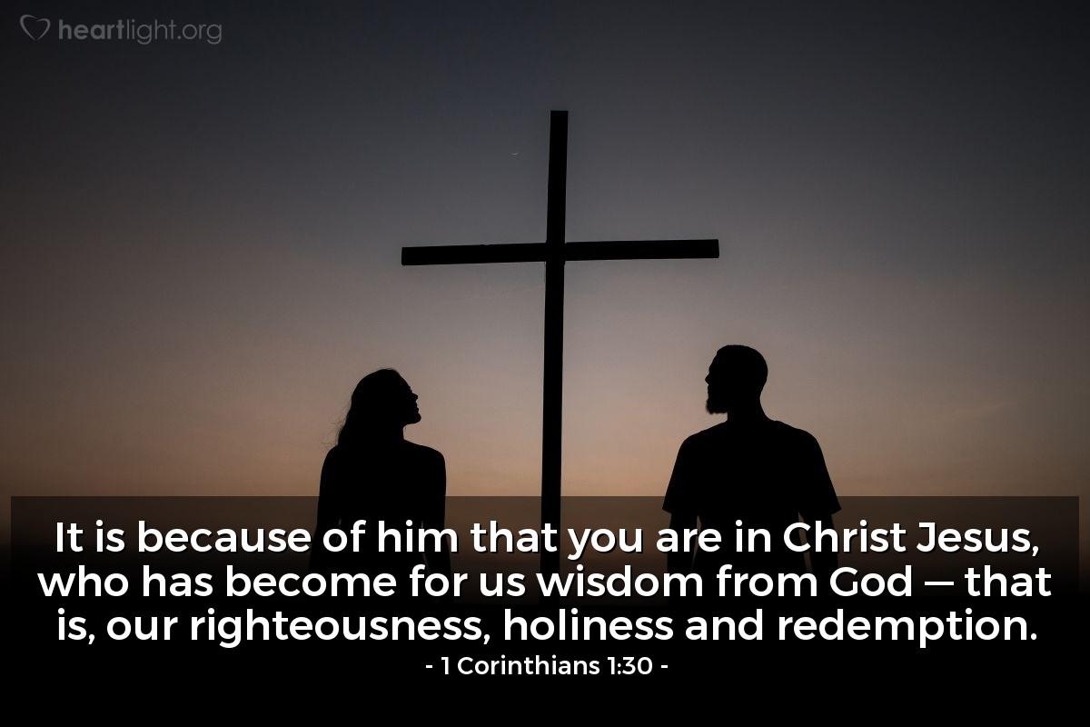 Inspirational illustration of 1 Corinthians 1:30