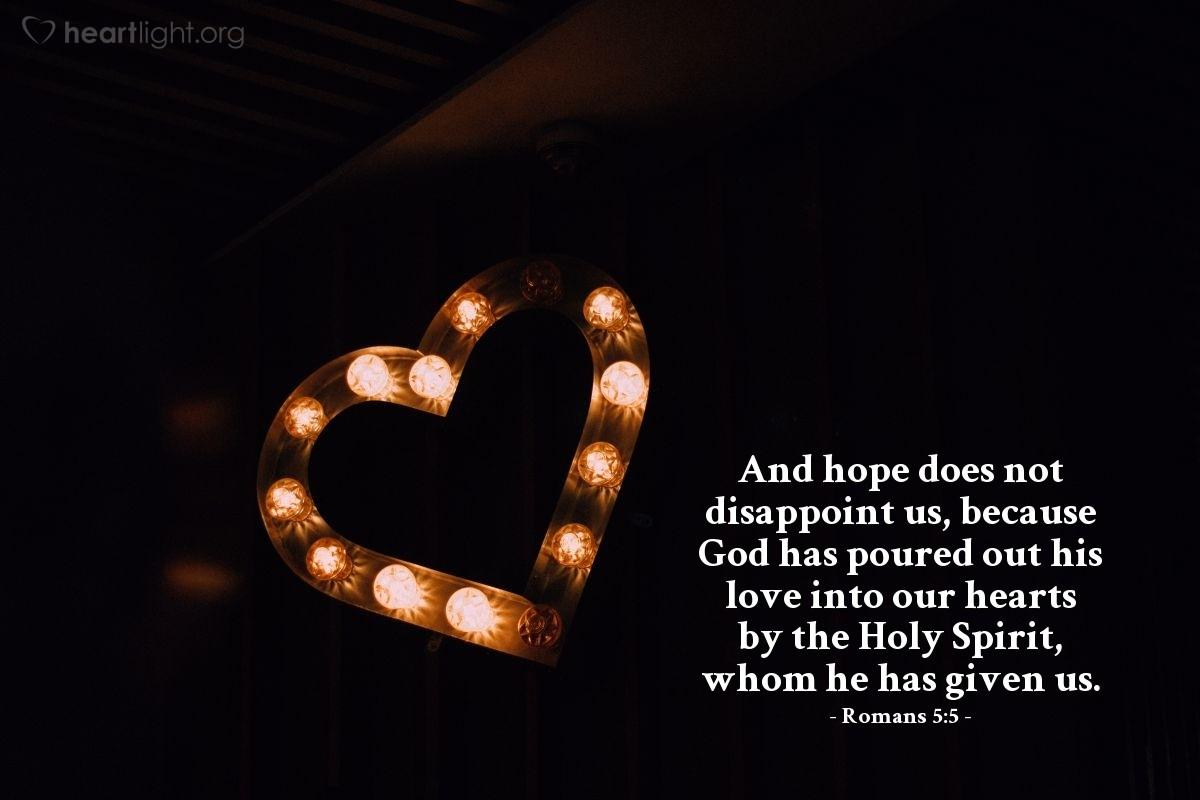 Inspirational illustration of Romans 5:5