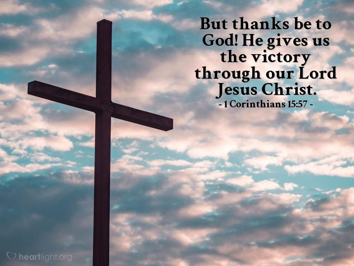 Inspirational illustration of 1 Corinthians 15:57