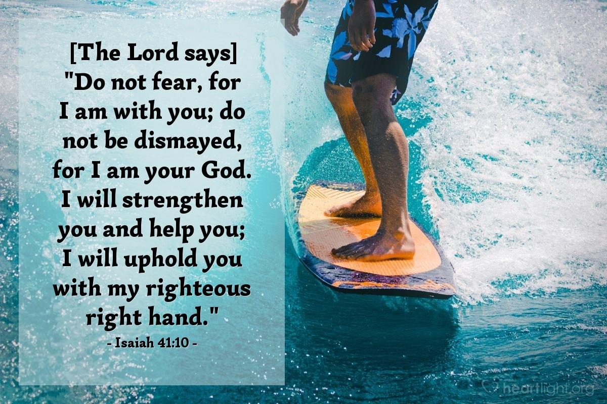 Inspirational illustration of Isaiah 41:10