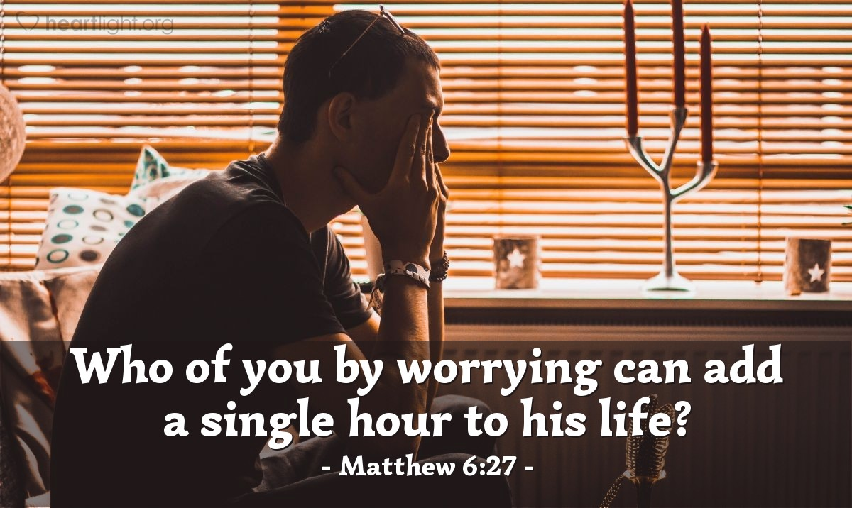 Inspirational illustration of Matthew 6:27
