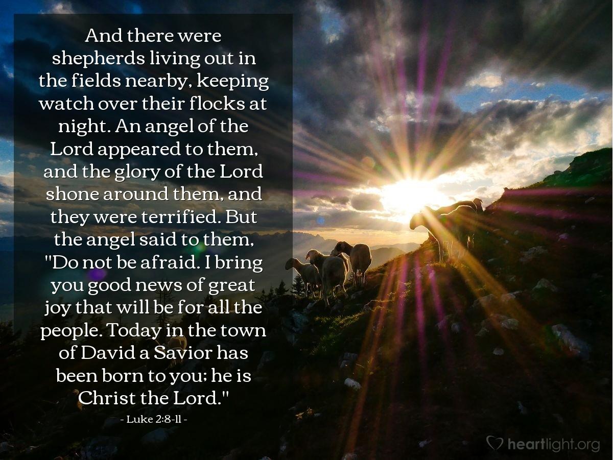 Inspirational illustration of Luke 2:8-11