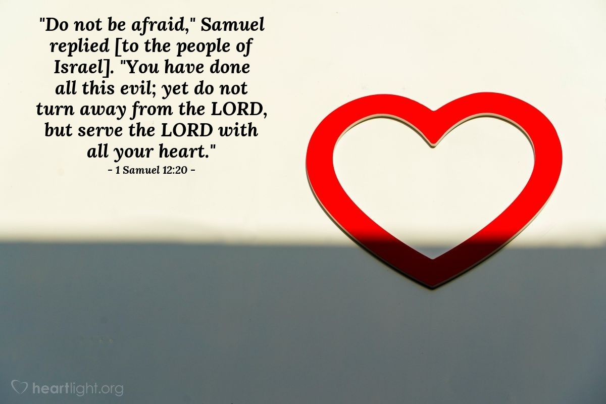 Inspirational illustration of 1 Samuel 12:20