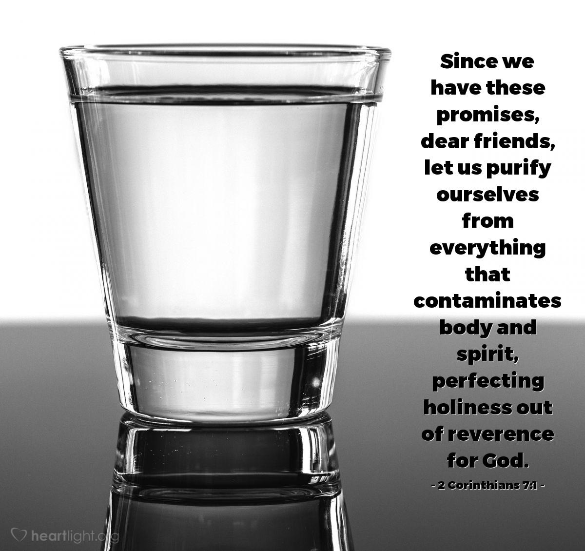 Inspirational illustration of 2 Corinthians 7:1